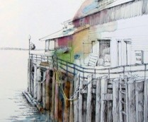 At the Seattle Waterfront with Urban Sketchers