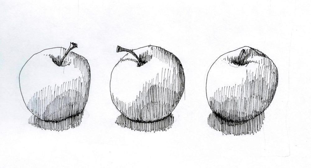 overlap apples