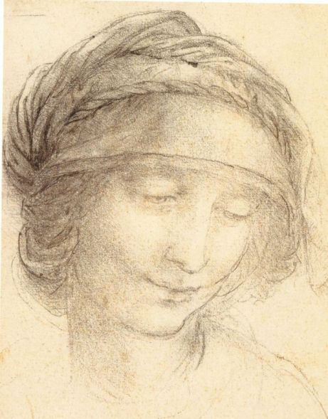 Head of Saint Anne by Leonardo da Vinci, licensed under public domain