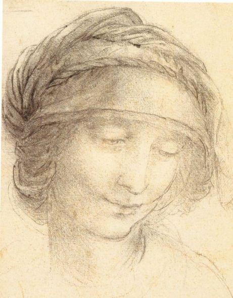 Head of Saint Anne by Leonardo da Vinci, licensed under public domain